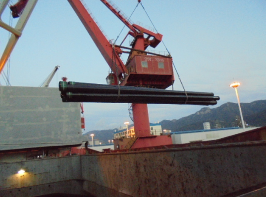 SAIGAO'S Casing were loading and delivering to Albania